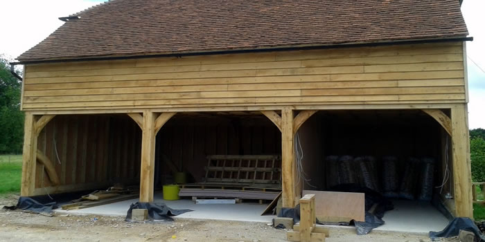 Oak Framed Garage Kent